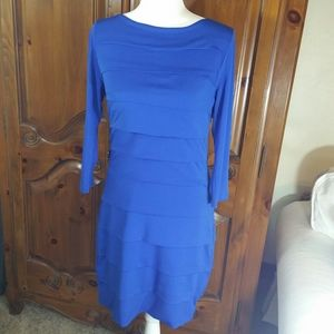 Antonio Melani Blue Layered Cocktail Dress sz M
